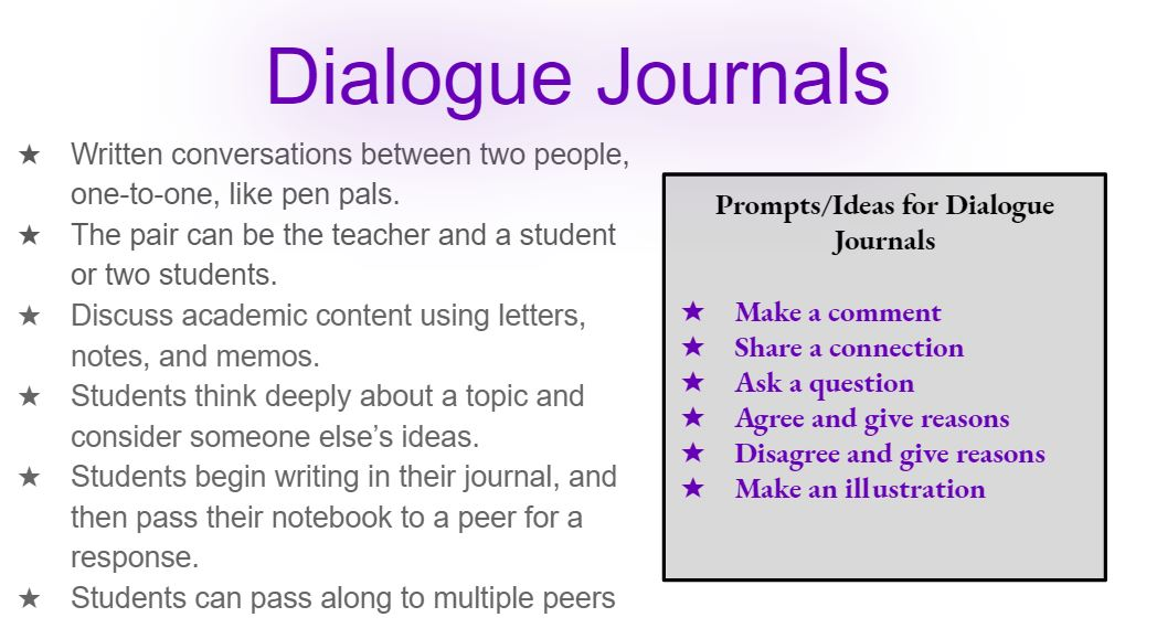 Dialogue Journals